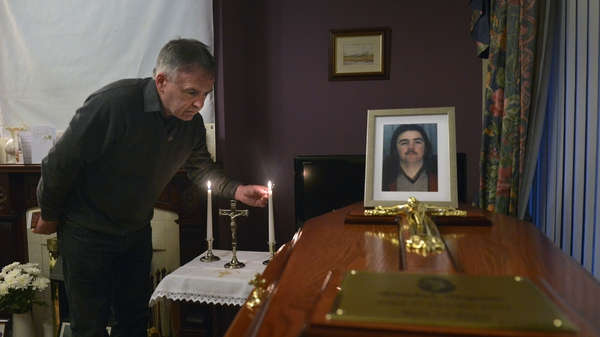 Mr Megraw's remains were returned to his brother Kieran's house in west Belfast