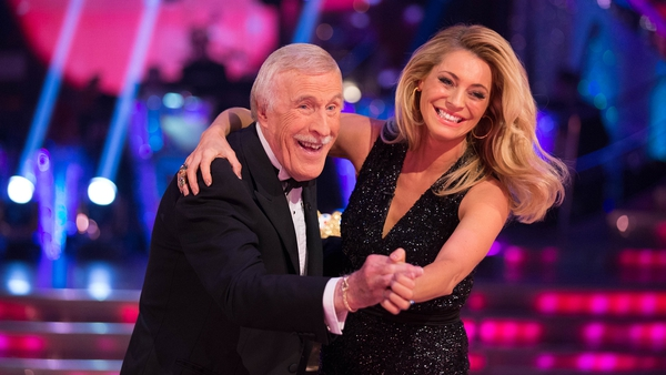 Bruce Forsyth with Strictly co-host Tess Daly