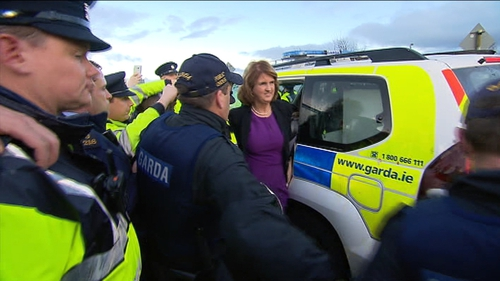 """A spokesperson for the Tánaiste described the protest as """"outright intimidation and confrontation"""""""