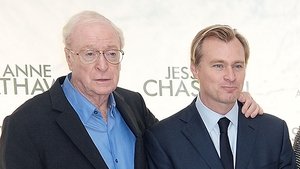 Michael Caine and Christopher Nolan