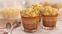 Milk Chocolate Mousse, Caramel Sauce, Toffee Popcorn - An old favourite with a new twist.