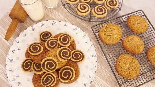 Chocolate and Vanilla Swirl Biscuits: Rachel Allen