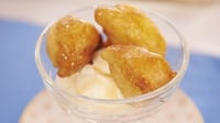 Deep-Fried Honey Puffs  - Serve warm with a drizzle of honey over the top and a scoop of ice cream on the side.