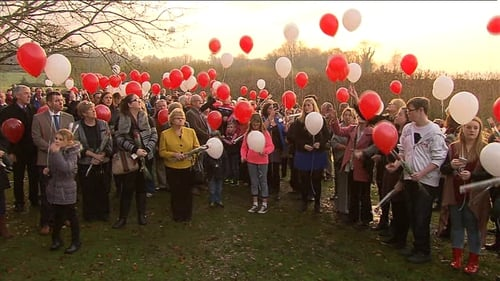 Families of victims released balloons over Lough Ennell in memory of their loved ones