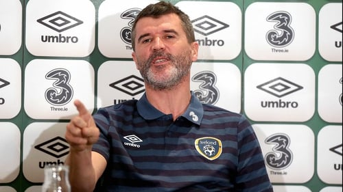 Roy Keane was in defiant mood when addressing the media at Portmarnock on Sunday
