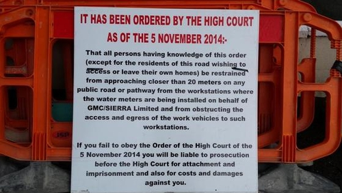 A court order is in place preventing a number of people from coming within 20 metres of GMC Sierra work stations
