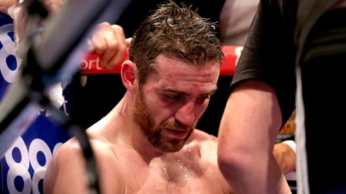 Matthew Macklin in his corner after being knocked out by Jorge Sebastian Heiland