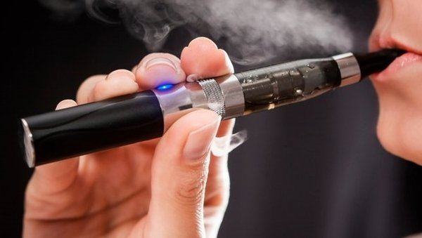 The word means inhaling and exhaling the vapour produced by electronic cigarettes