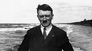 Adolf Hitler pictured on board a ferry in the Baltic Sea in 1923