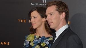 Cumberbatch with fiancée Sophie Hunter