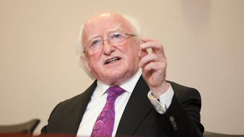 President Higgins said the recent crisis had shown that markets needed an institutional framework to guarantee fairness over the long term