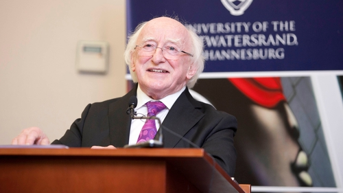 President Higgins said the Direct Provision system does not answer the rights of asylum seekers