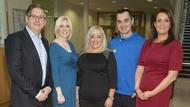 Dr Eddie Murphy, Aoife Ahearne, last year's leader Deirdre O'Donovan, Karl Henry and Dr Ciara Kelly