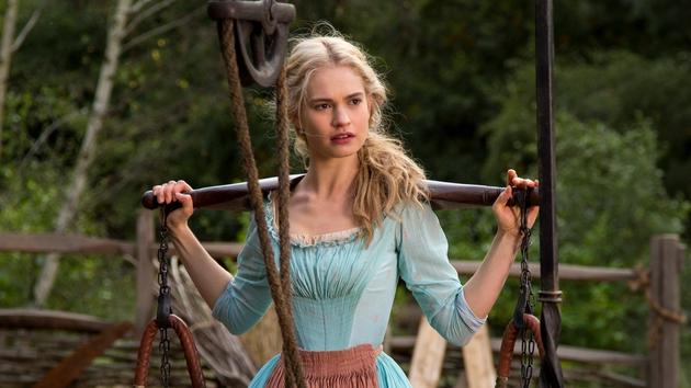 Lily James Cinderella Dresses Lily James as Cinderella