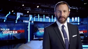 O'Dowd plays a spoof anchorman
