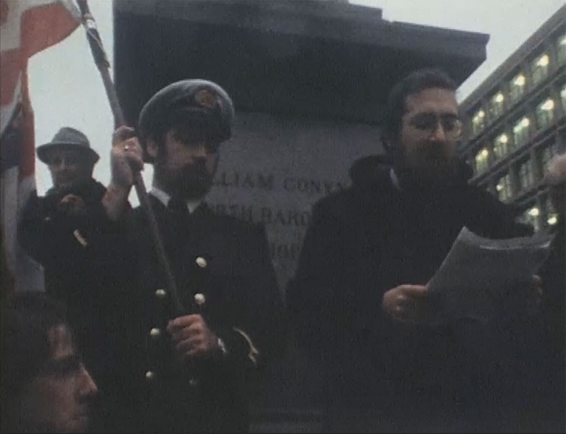Eddie Higgins (right), Irish Shipping Protest