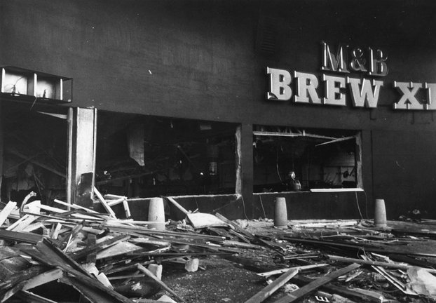The Mulberry Bush in Birmingham after the bombing