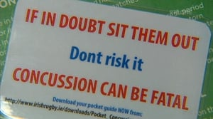The report calls for a consistent approach to concussion injuries