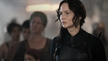 Jennifer Lawrence as Katniss in The Hunger Games: Mockingjay - Part 1