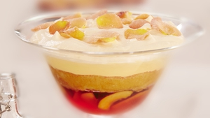 Nectarine and Sloe Gin Jelly Trifle: Rachel Allen