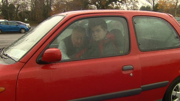 Anthony Doolan drives 80km a day to bring his son to school