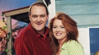 Dara O'Briain and Blathnaid Ní Chofaigh on Echo Island in 1997 © RTÉ Stills Library