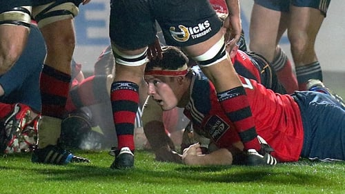 Munster's Robin Copeland scores his side's first try