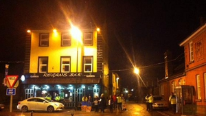 Initially a handful of protesters shouted at the Taoiseach as he entered the pub