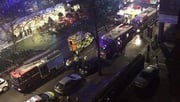 Around 80 firefighters are attending the scene in London