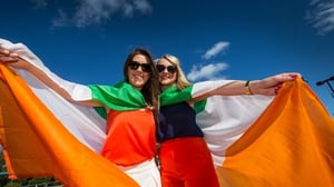 Ireland fans gathered in Perth to cheer on their side