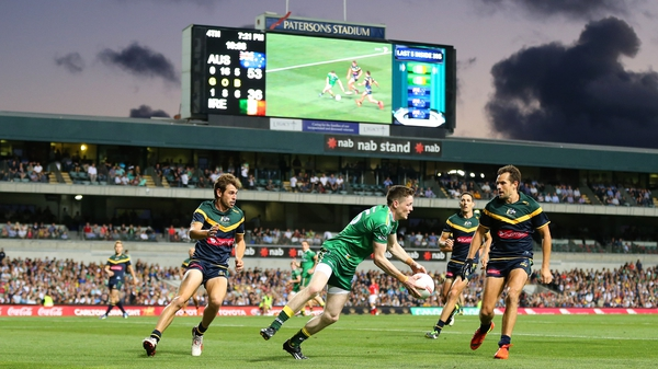 Ireland only managed seven points in the first two quarters