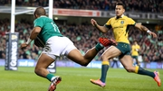 Simon Zebo goes over for Ireland's opening try