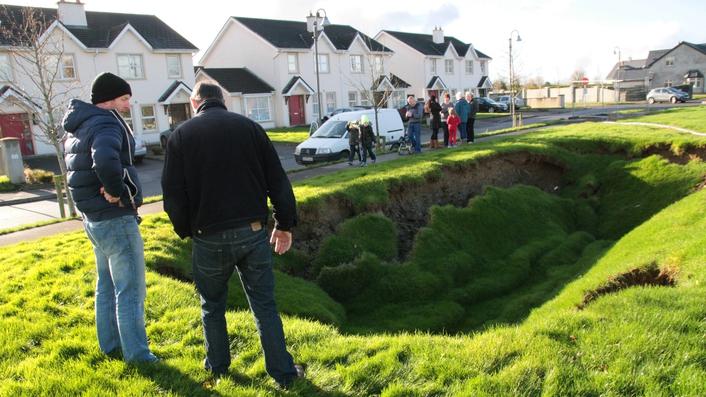 Sinkhole appears in Kerry town