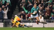 Simo Zebo scored Ireland's first try