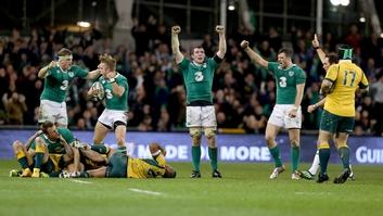 Ireland celebrate at full-time