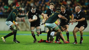 Brodie Retallick (ball in hand) is the World Rugby Player of the Year 2014