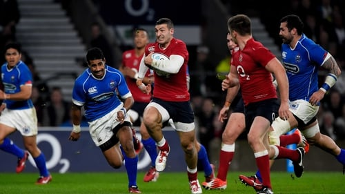 Jonny May scored a brace of tries for England