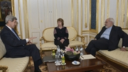 John Kerry, Catherine Ashton and Iranian Foreign Minister Javad Zarif met for talks in Austria yesterday