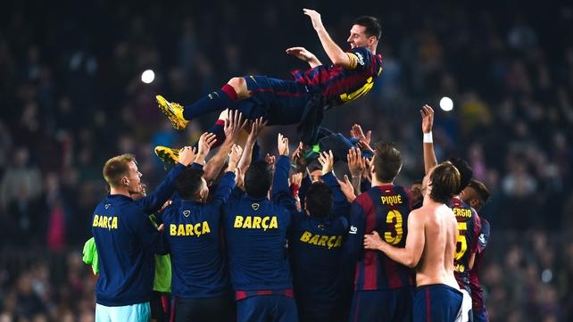 Master Messi breaks La Liga scoring record