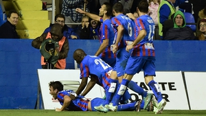 Levante claimed a surprise victory over Valencia