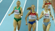 Roisin McGettigan crosses the line in fourth at the the Oval Lingotto indoor arena in Turin