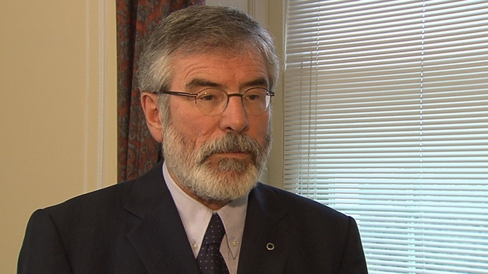 Gerry Adams writes to Taoiseach over 'hooded men' case
