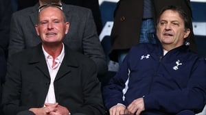 Paul Gascoigne and Gary Mabbutt at a match between Tottenham and Everton at White Hart Lane in 2013