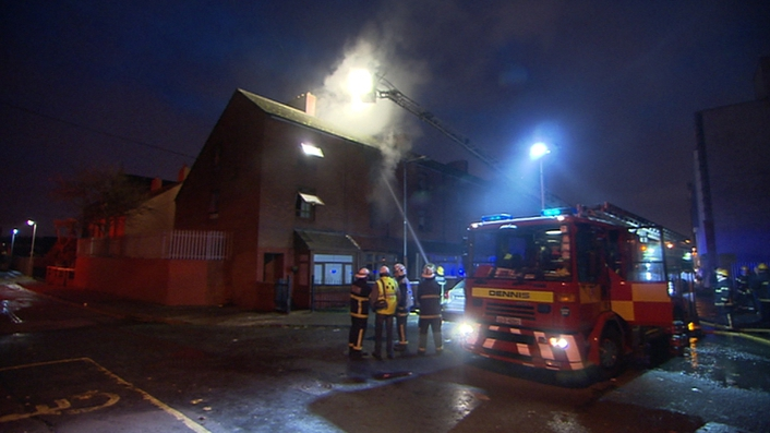 Baby rescued from Dublin fire
