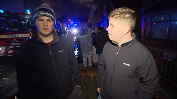 Mark Furlong (left) caught the infant