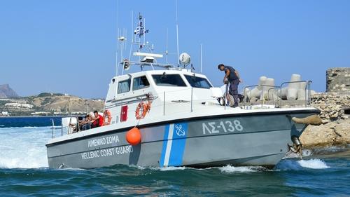A coastguard boat rescuing migrants in a previous incident