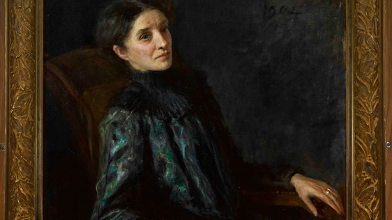 Annie Horniman Portrait by John Butler Yeats. Photograph courtesy of the Abbey Theatre