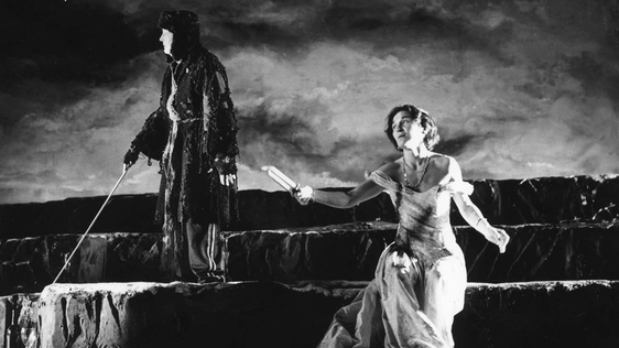 Olwen Fouéré and Joan O'Hara in 'By the Bog of Cats' by Marina Carr. Photograph by Amelia Stein courtesy of the Abbey Theatre.
