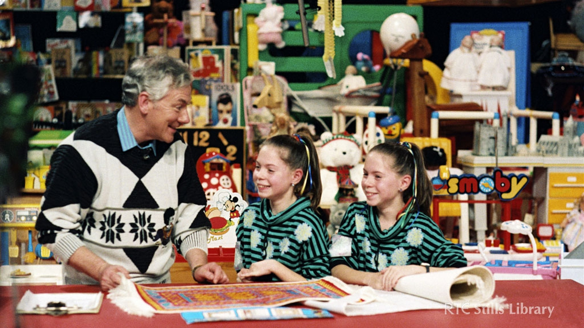 Bronwyn and Carolyn Boyle on the Late Late Toy Show 1988