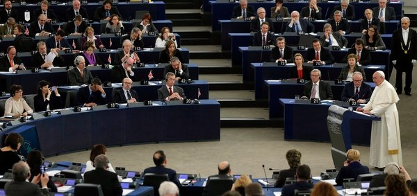 Pope Francis addressed the European Parliament in Strasbourg